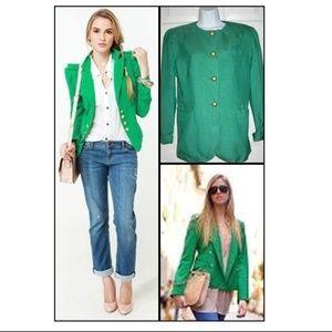Vintage Christian Dior Kelly Green Blazer Jacket 6